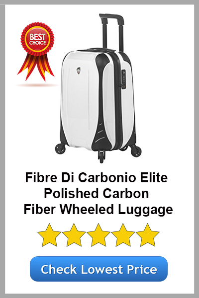Mia Toro's Fibre Di Carbonio Elite Polished Carbon Fiber Wheeled Luggage
