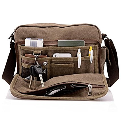 Harwish Men's Canvas Messenger Bag 1