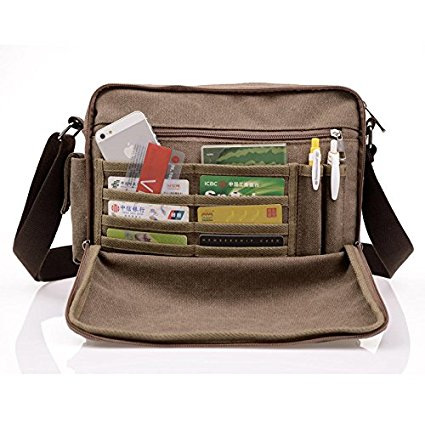Harwish Men's Canvas Messenger Bag 2