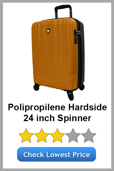 MIA TORO POLIPROPILENE HARDSIDE 24IN SPINNER