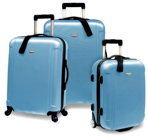 Review of Travelers Choice Freedom 3 Piece Lightweight Hard-Shell Spinning Rolling Luggage Set