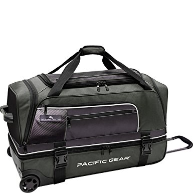Traveler's Choice Pacific Gear Drop-Bottom Rolling Duffel Bag