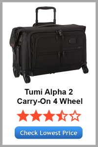 Tumi Alpha 2 Carry-On 4 Wheel Garment Bag