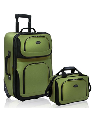 U.S Traveler Rio carry-on lightweight expandable rolling luggage suitcase set (15-Inch and 21-Inch)2
